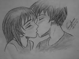 Pencil Sketches Of Couples Kiss Pencil Sketch At Paintingvalley Com Explore