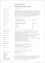 Resume Templates For Warehouse Worker Beauteous Example Of A Warehouse Resume General Warehouse Worker Resume