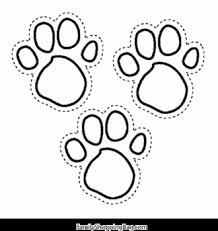 Small Picture Blues Foot Prints Blues Clues Coloring Pages Free Printable