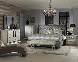 hollywood swank furniture. Amazoncom Hollywood Swank Queen Graphite Bedroom Set By Aico Amini Kitchen Dining With Furniture