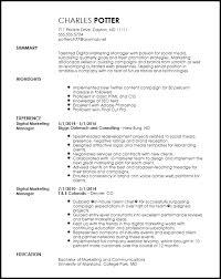 Creative Marketing Resume Free Creative Digital Marketing Manager Resume Template