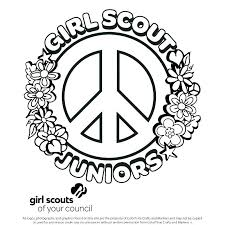 Daisy Girl Scout Petal Coloring Pages Daisy Girl Scout Petal