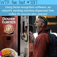 Interesting Facts About Vending Machines Extraordinary Coffee Vending Machine That Gives You Free Coffee If You Yawn
