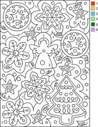 Small Picture Nicoles Free Coloring Pages CHRISTMAS Color by Number