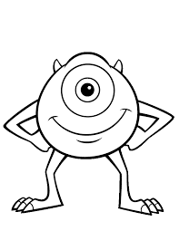 Monster Movie Coloring Pages For Kids