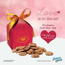 famous amos penon gift box 90g cookies rm8 save rm5 50 until 19 february 2017 harga runtuh