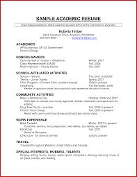 Elegant Academic Curriculum Vitae Samples Mailing Format