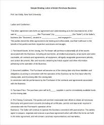 Letter Of Intent To Purchase Business Template Simple Letter Of Intent To Purchase Assets Of Business Template