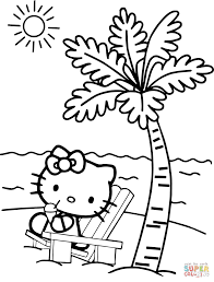 Small Picture Hello Kitty at the Beach coloring page Free Printable Coloring Pages