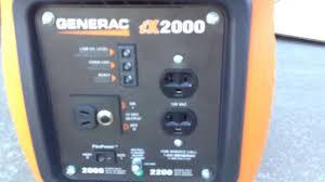 Generac Ix2000 Overload Light Stays On Generac Ix2000 Info Setup