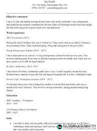 First Time Job Cv Template For A 13 14 Or 15 Year Old Free Download In Ms Word