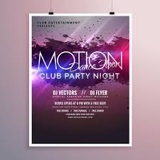 Part Flyer Abstract Dance Music Party Flyer Template With Ink Splash Download