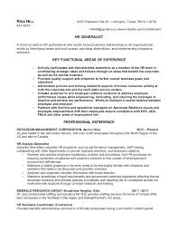 Resume Samples For Hr Sample Professional Resume