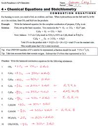 balancing chemical equations worksheet answers concept review 141889 myscres