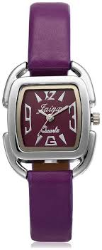 Buy Jainx <b>Ollin</b> Analogue <b>Purple</b> Dial Women'S Watch -Jw504 ...