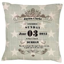 christening baptism confirmation stars cushion gift personalised gift cushions