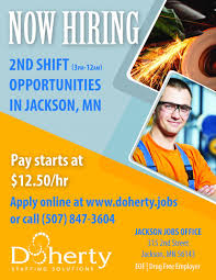 second shift opportunities in jackson doherty the employment second shift opportunities in jackson