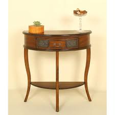 round console table lovely half accent rounded corner tables safavieh target