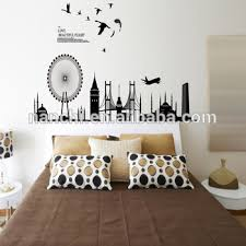 modern city design love beautiful flight wall stickers home bedroom living room sofa decoration removable waterproof on flight wall art with modern city design love beautiful flight wall stickers home bedroom