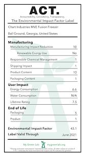 Chart Industries Ga Chart Industries Mve Fusion Freezer Act