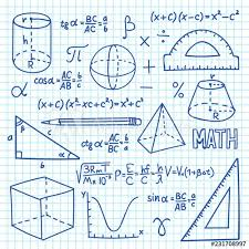 Math Formula Chart For Geometry Doodle Maths And Geometry Concept Trigonometry Functions