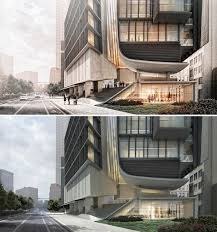 Architecture Design Photoshop Day To Night All Photoshop Photoshop Rendering