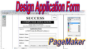 Page Maker Design Images How To Create And Design Application Form In Adobe Pagemaker