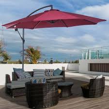 outsunny patio umbrellas 10 offset