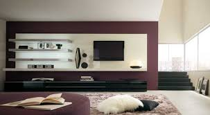 Living Room Wall Unit Chic Living Area With Elegant Metallic Wall Shelves Also Living