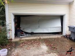 broken garage doorCharlotte NC Garage Doors Repair Installation Residential Commercial