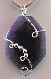 handcrafted purple le agate