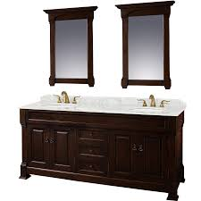 72 inch bathroom vanity double sink. Perfect Double Wyndham Collection Andover Cherry Double Sink Vanity With White Carrera  Natural Marble Top Common With 72 Inch Bathroom O