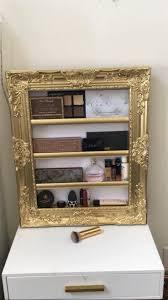 Princess Accessory Make up Display Rack makeup organizer | Etsy | Gold wall  decor, Makeup organization, Gold walls