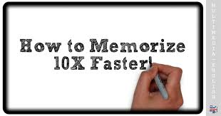 How to Memorize Fast and Easily (Boost your memory) –[Multimedia ...