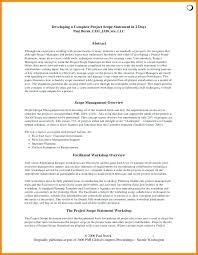 Work Statement Examples Project Scope Statement Examples Management Example Of Work Wor