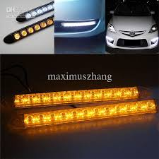 2x flexible 12 led light bar auto drl lens led lights strip waterproof universal car daytime lights working lamp led working lamps from maximuszhang