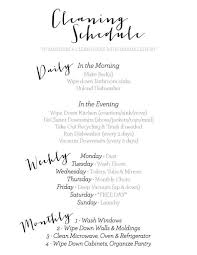 My Daily Weekly Monthly Cleaning Schedule To Keep My House Clean