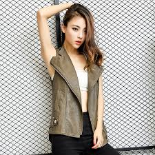 get ations red flowers and green leaves 2016 korean version of the new women s leather vest female short