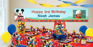 custom happy birthday banner custom mickey mouse birthday banners party city