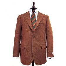 southwick sport coat harris tweed rust olive heather 97087