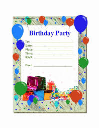 free birthday invitation template for kids printable birthday cards foldable inspirational free birthday