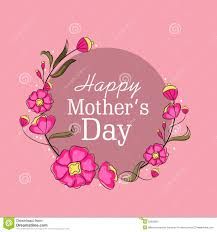 Mothers Greeting Card Greeting Card Design For Happy Mothers Day Celebration Stock