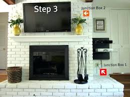 tv above fireplace wires how to mount over brick fireplace and hide wires image brick fireplace