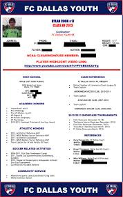 Soccer Resume For College Soccer Player Profile Sample 24 SOCCER Recruitment Pinterest 21