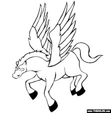 Pegasus Coloring Page Free Pegasus Online Coloring