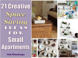 21 Creative Space Saving Ideas for Small Apartments. Apartments are not the  easiest thing to keep organized. Especially if your space is limited ...