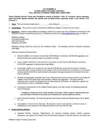 Catering Agreement Cateringtract Template Word Free Agreement Microsoft