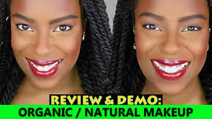 dark skin natural organic makeup tutorial review me4b4c you
