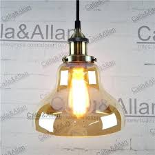 antique brass pendant light amber glass antique brass pendant light fixture hang lamp retro industrial pendant