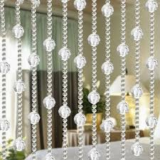 1 string 1m long garland diamond acrylic crystal bead curtain wedding diy party decor home living